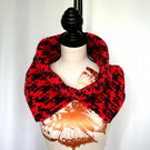 Red and Black Chunky Cowl