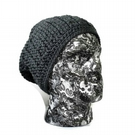 Mens Grey Slouch Beanie