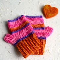 Multicoloured Fingerless Gloves