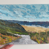 Bournemouth Cliff View Painting