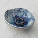 Bubble glaze trinket dish