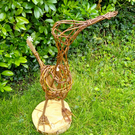 Willow duck sculpture