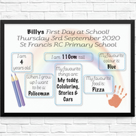 Personalised First Day at School or Nursery Print