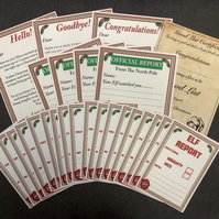 Christmas Elf Pack - Elf reports letters certificate  - Fr Christmas