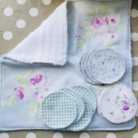 Reusable Eco-Friendly Cotton Face Cloth and Cleansing Wipes