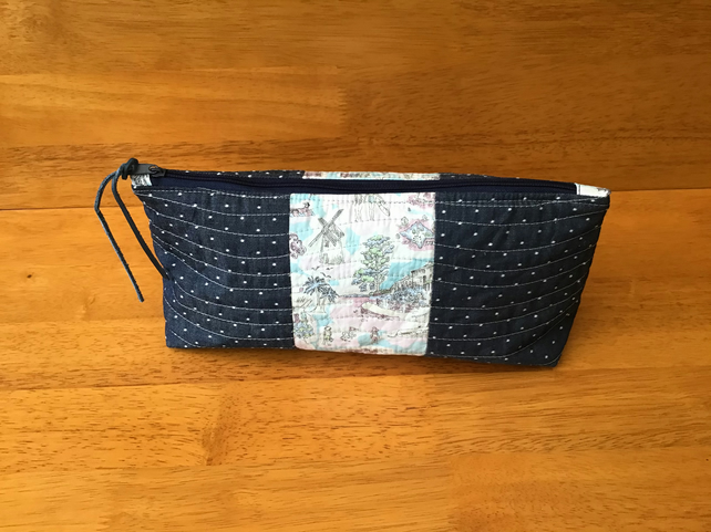 Cosmetic or Small Project  Wedge Bag