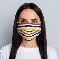ComfyMasky Economy Cotton Face Mask for Adults - Multicolor Lines