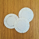 Round macrame coasters set of 2