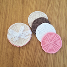 Fase scrabbies.  Crochet make up remover pads.