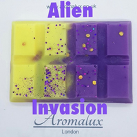 Alien invasion scented wax melt snap bar. Hand made, high quality wax melts