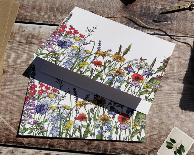 Wild meadow printed notecards & envelopes