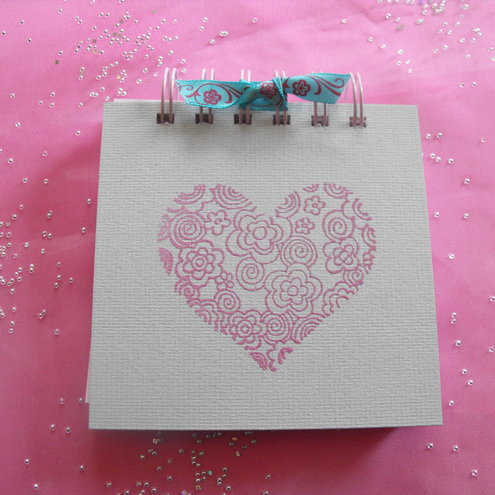 Pretty Pale Pink Heart Jotter