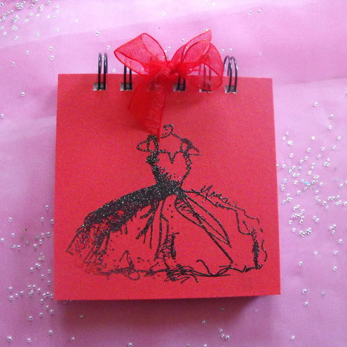 Beautiful Black Ballgown Jotter