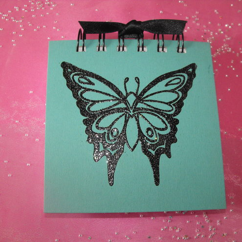 Beautiful Black Butterfly Jotter