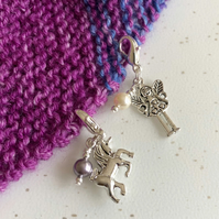 Unicorn and Fairy Purse Planner Charms