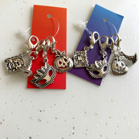 Halloween charms for pencil case, bag or planner.