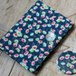 Small notebook & mirror set covered in Liberty Dance daisy print fabric (navy)