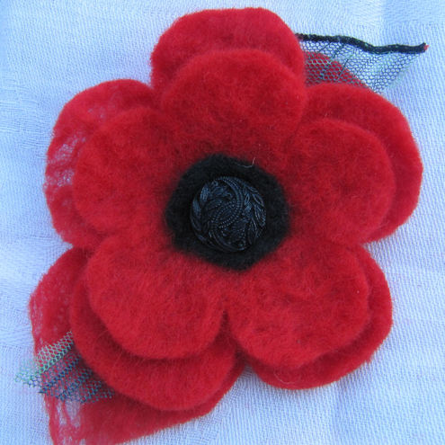 POPPY BROOCH TO MAKE