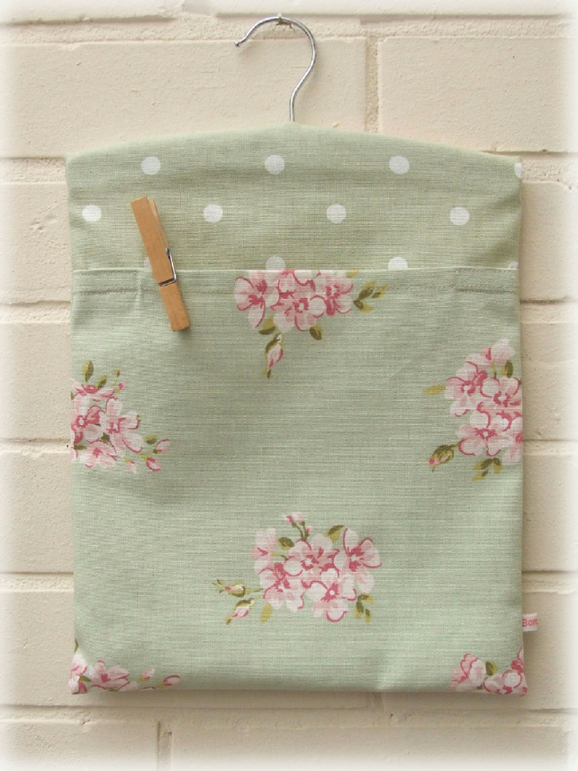 Gorgeous Sage Green Peg Bag