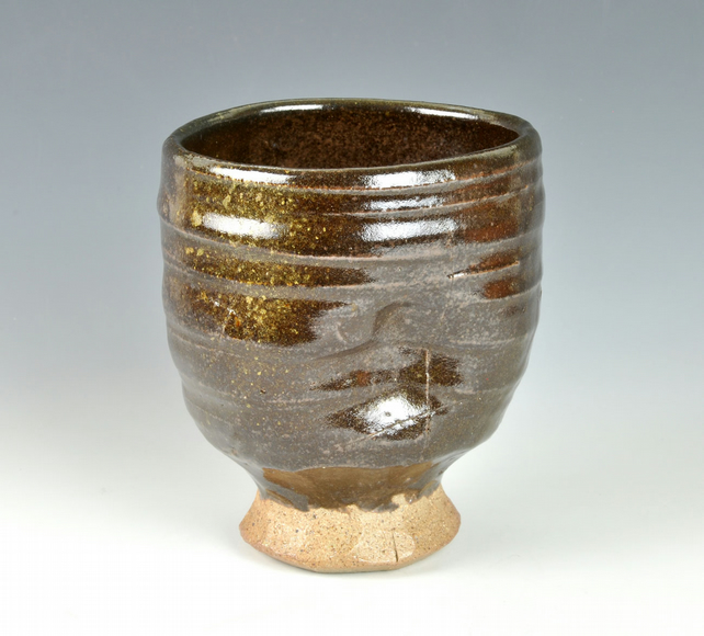 A Large, wood-fired cup or yunomi