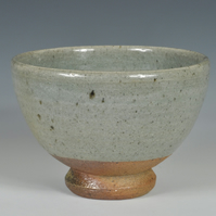 A wood-fired, celadon tea bowl