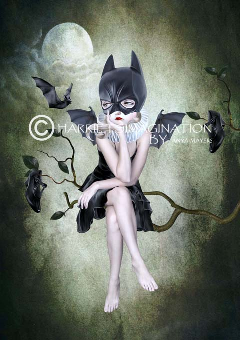 Batgirl Art Print - A4 Size - Moonlighting