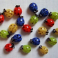 20 x Glass Ladybird Beads
