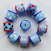 10 x Happy Beads - Periwinkle