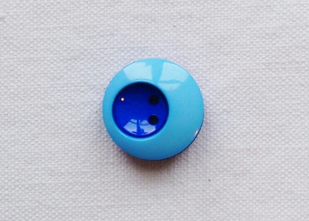 Two-Tone Adorable Blue Buttons - 17mm