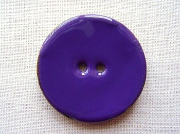 1 x Glossy Purple Coconut Shell Button (40mm)