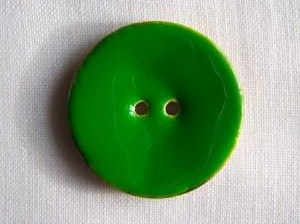 1 x Glossy Green Coconut Shell Button (40mm)