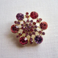 Pink Glass Rhinestone Button (30mm)