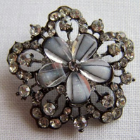 Super Big Glass Rhinestone Button (40mm)