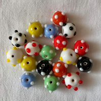 18 x Colourful Glass Beads (15mm)