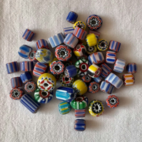 60 x Millefiori Glass beads (4-12mm)