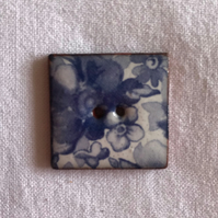 China Blue Square Ceramic Buttons - 24mm