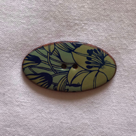Blue 'n Green Ceramic Buttons - 40x20mm