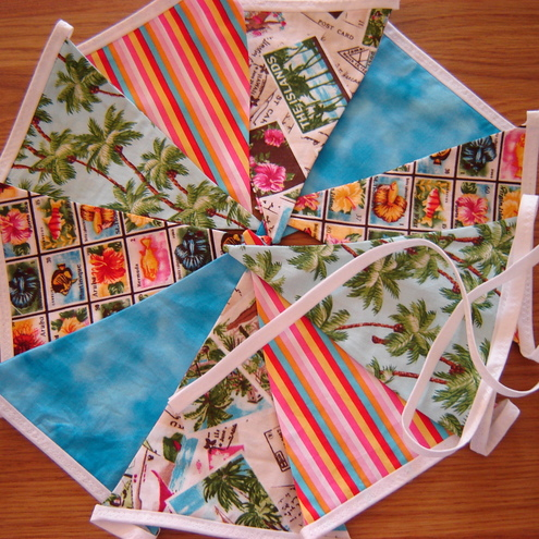 Summer holiday themed bunting