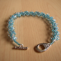 Bracelet - turquoise and silver beads
