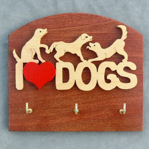 I love dogs key holder