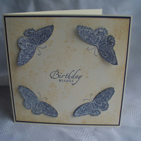 Purple Butterfly Birthday Card