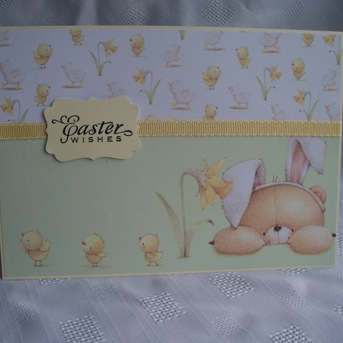 Easter card with Forever Friends Bear