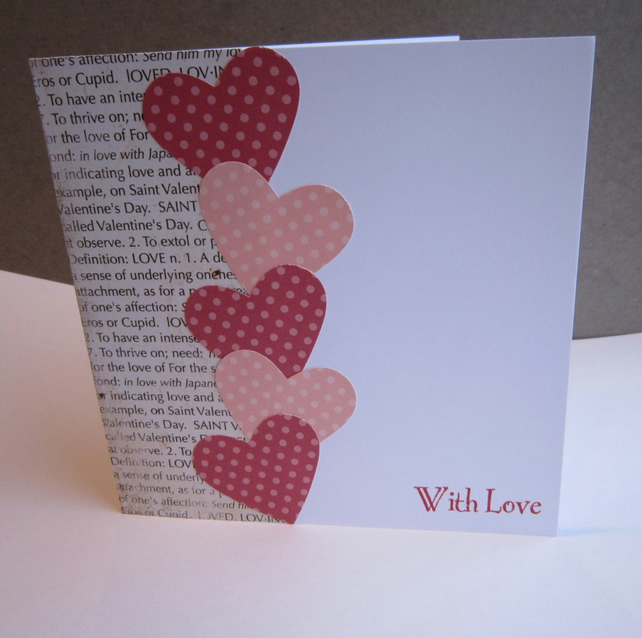 Handmade valentine 39 s card folksy for Designs for valentine cards