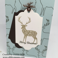 Artic Inspired Christmas Card with Reindeer