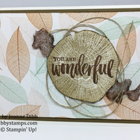 """You Are Wonderful"" Autumn Leaves Card"