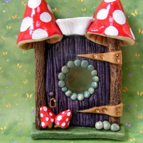 Toadstool Fairy Door