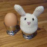 Cream Bunny Egg Cosy and Egg Cup
