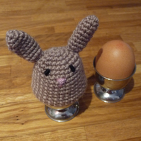 Brown Bunny Egg Cosy and Egg Cup