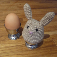 Tan Bunny Egg Cosy and Egg Cup