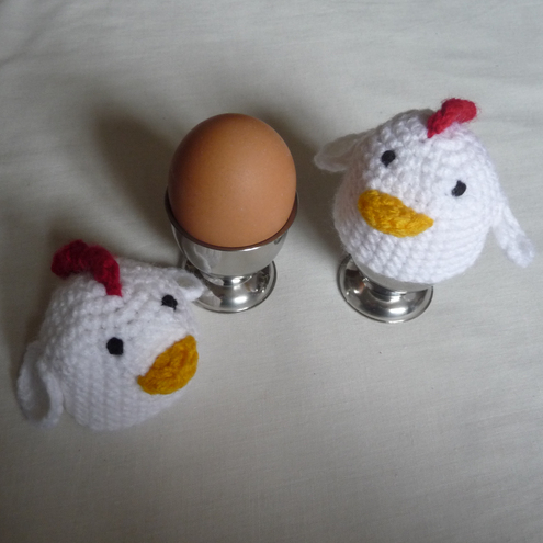 Chicken Egg Cosies and Egg Cups Set